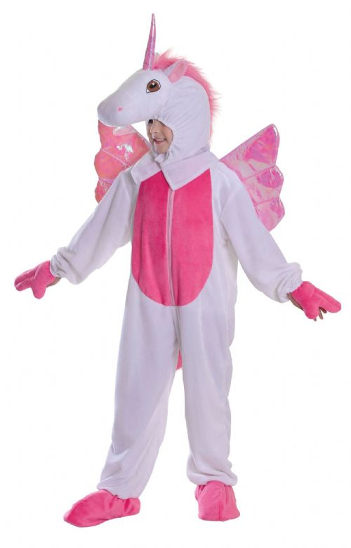 Childs Unicorn Costume Mythical Flying Horse Animal Fancy Dress Outfit
